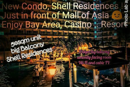 SHELL RES: Huge 23sqm Balcony Facing Amenity, WiFi - Pasay City