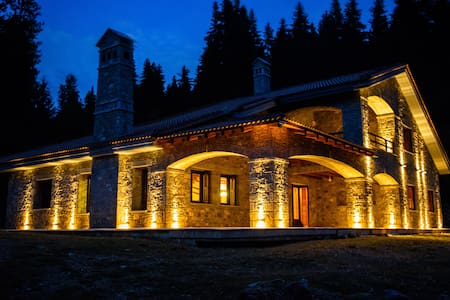 Luxury stone chalet in the woods