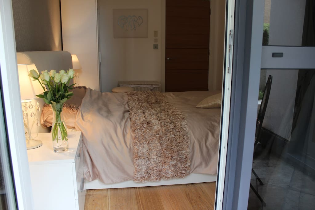 Double bedroom from private terrace