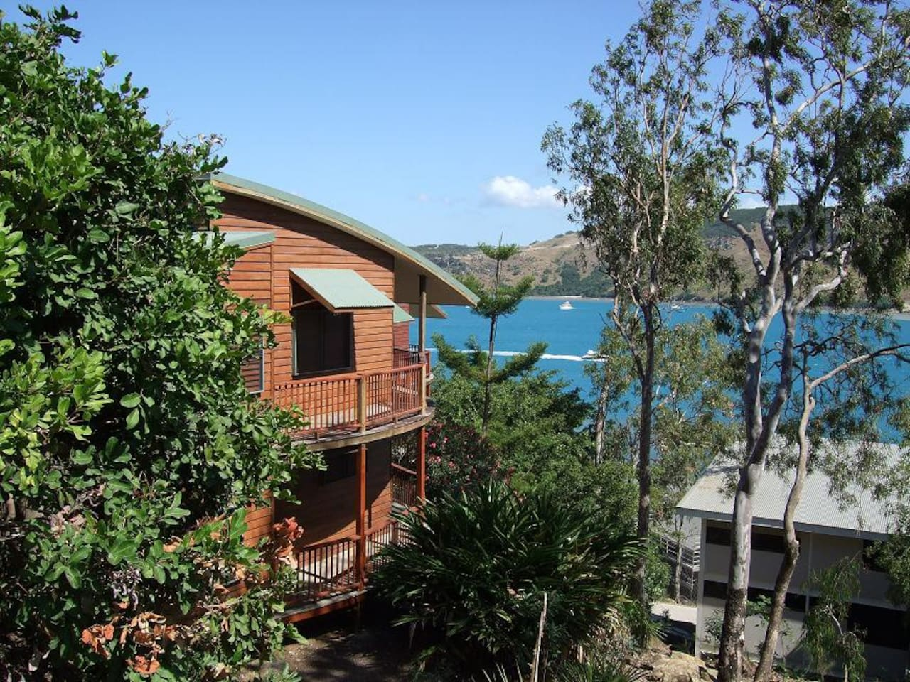 Our house, with Dent Passage in background