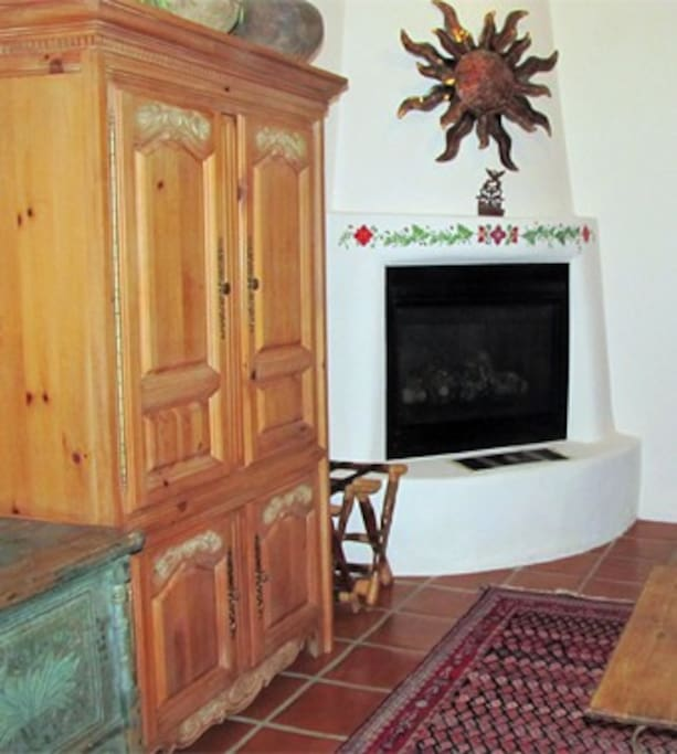 Fireplace and TV cabinet