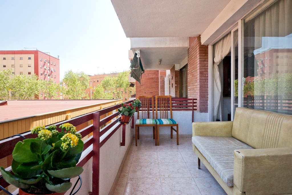 Terrace for breakfasts, fresh air, and afternoon tapas!