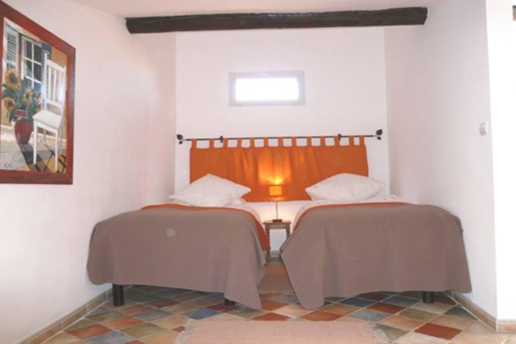 Loft duplex bedroom.