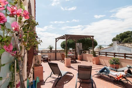 SEAFRONT apart. center & terrace - Apartamento