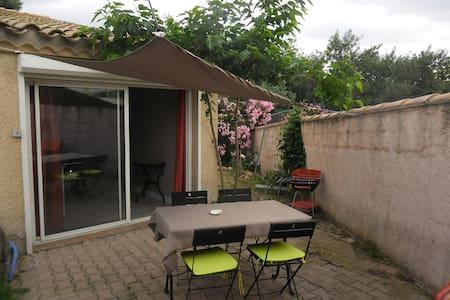 studio 35 m2, avec jardin et parking sécurisé - Pollestres - Appartement