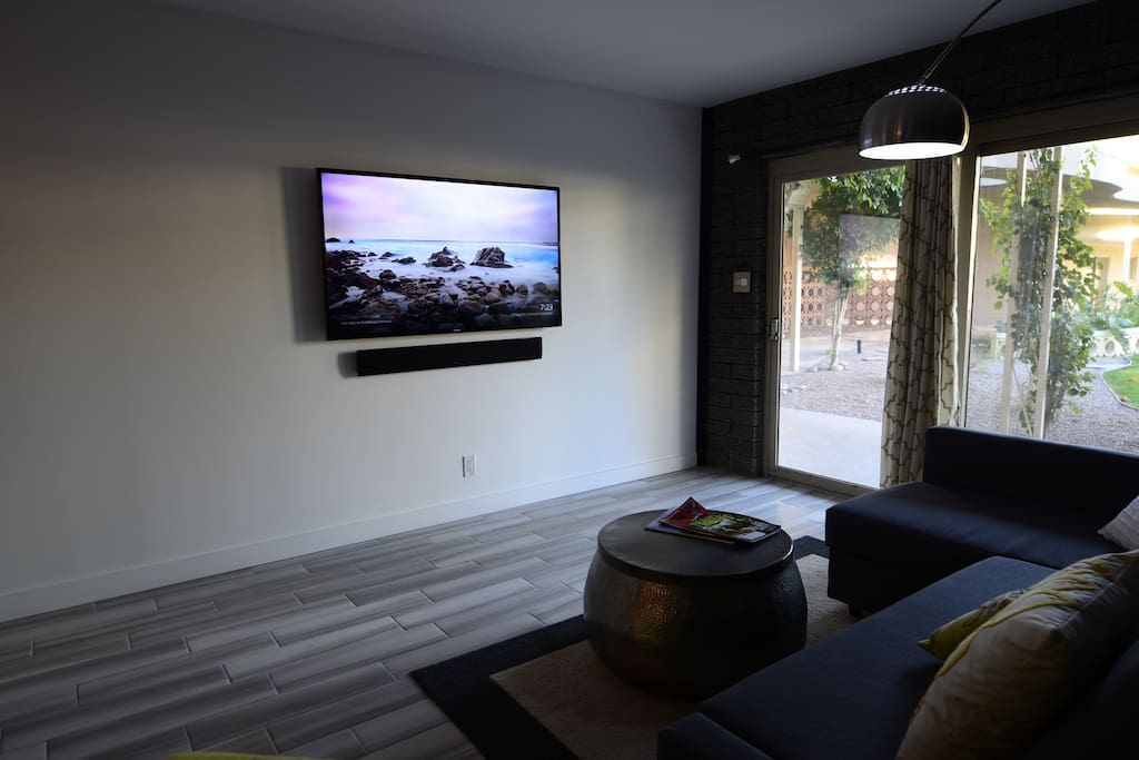 "60"" LCD Television in living room"