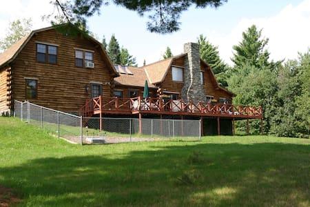 Real Log Home on 15 acres of land - Lunenburg