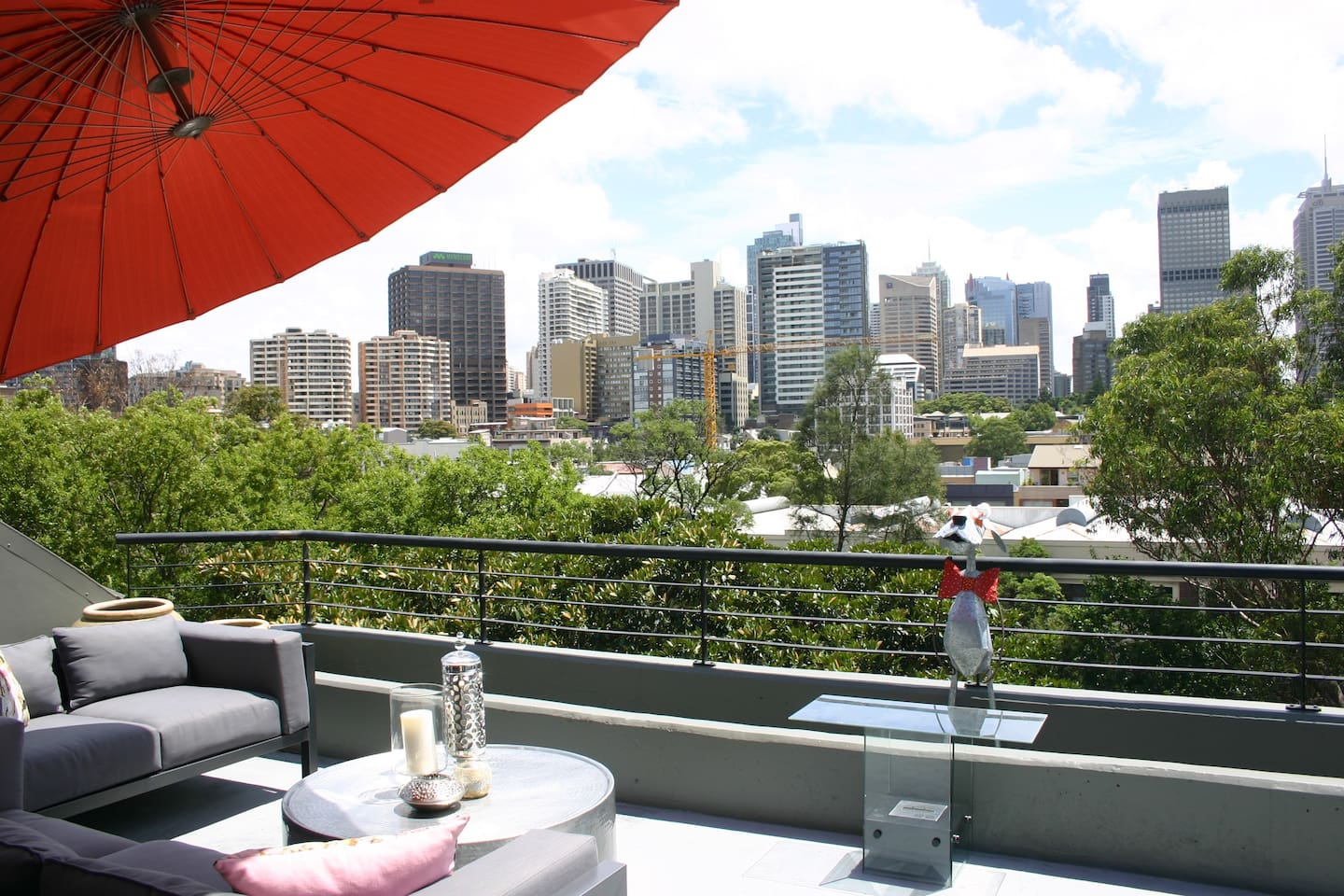 The Roof Terrace with a priceless view of the city