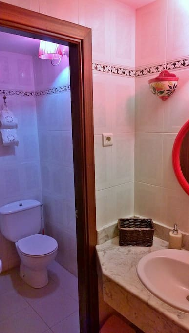 Own toilet and bathroom