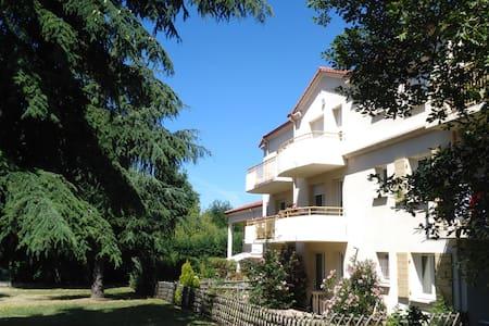 Chambre calme avec balcon vue parc, pt dej offert - Appartement