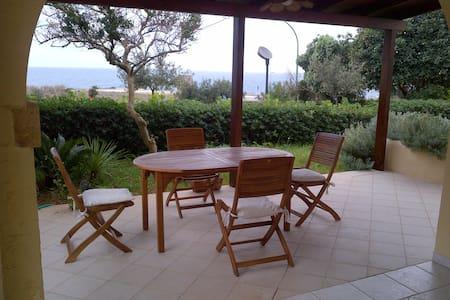 House with garden sea front - Santa Cesarea Terme