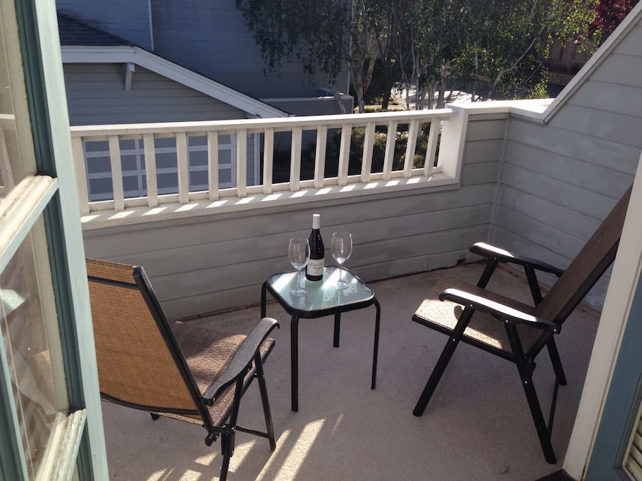Relax and enjoy the great weather on your private balcony.