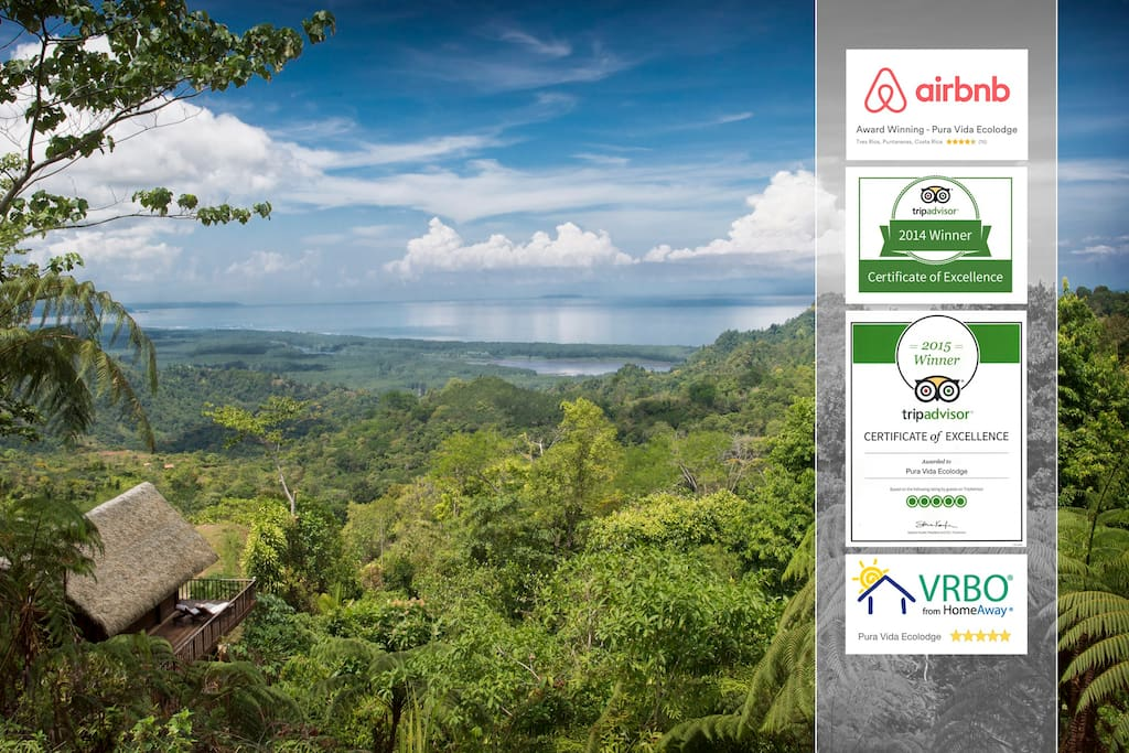 Very proud to announce that Pura Vida Ecolodge has been awarded with another Certificate of Excellence and a 5-Star rating by guests on Trip Advisor for 2015.