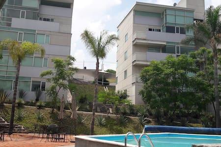 Great view well spotted flat, pool - Santiago de Querétaro - Apartment