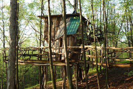 The Hermit Thrush Treehouse - West Pawlet - Casa na árvore
