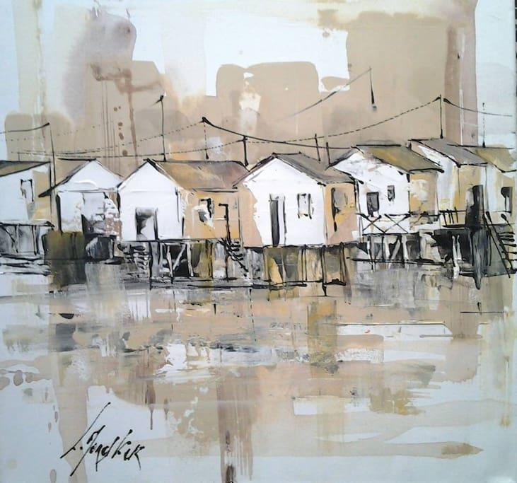 Galerie de peinture Laurent Monestier au centre du village