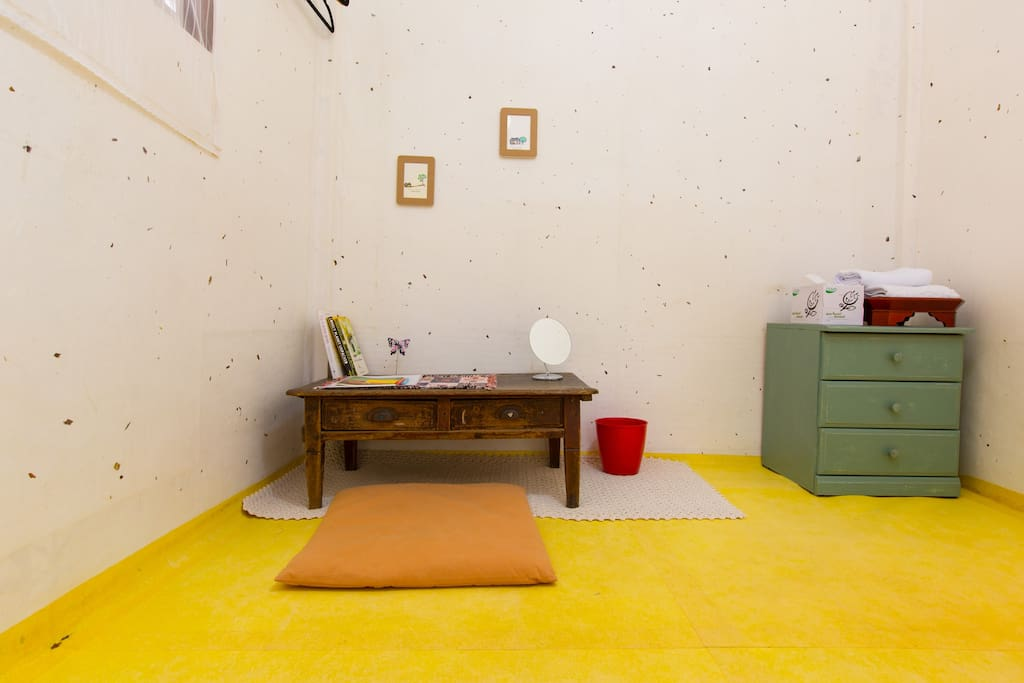 The room is really simple but you will feel really cozy and feel like you are staying in the nature.