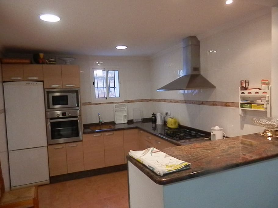 The kitchen has been renovated to a high standard and is fully equipped
