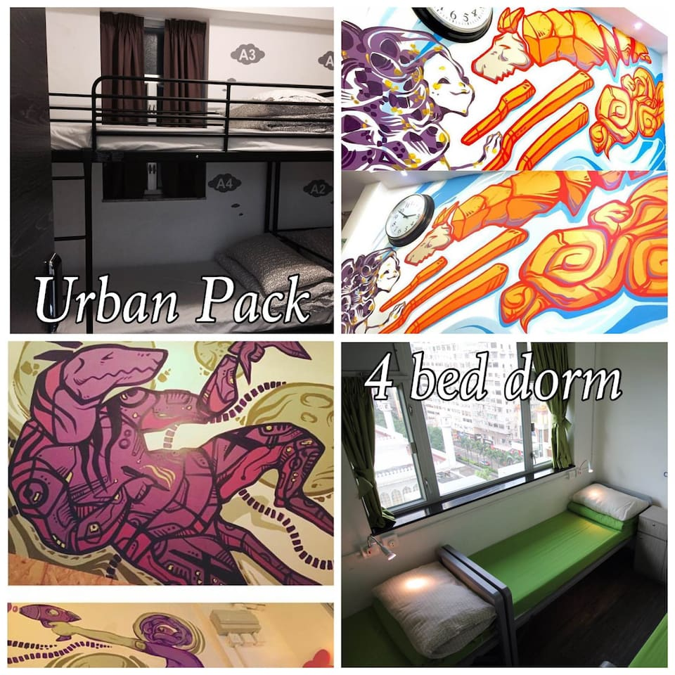 Urban Pack - 4 Bed Mixed Dorm