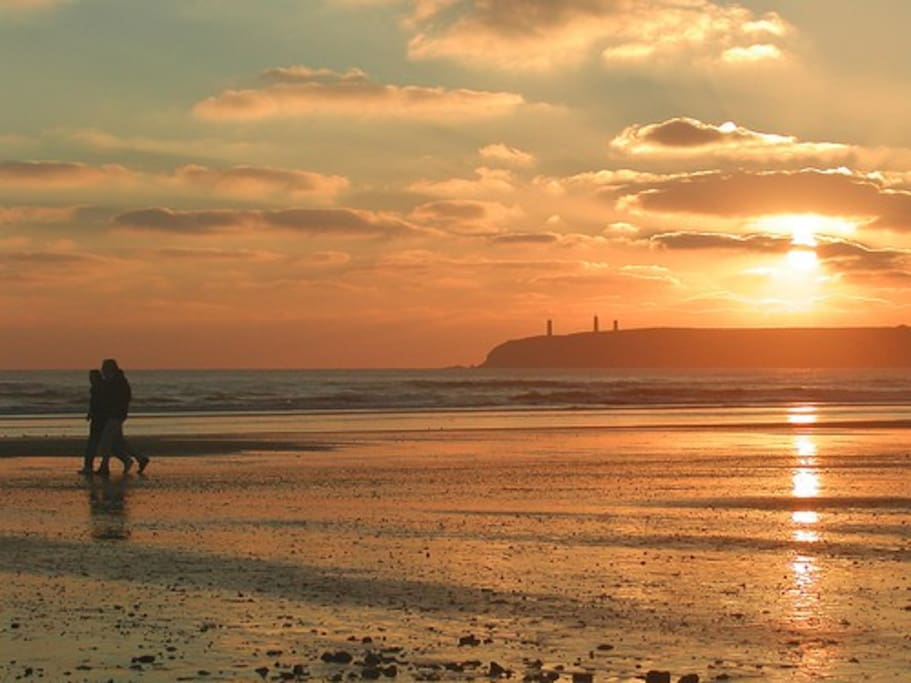 Sunset In Tramore
