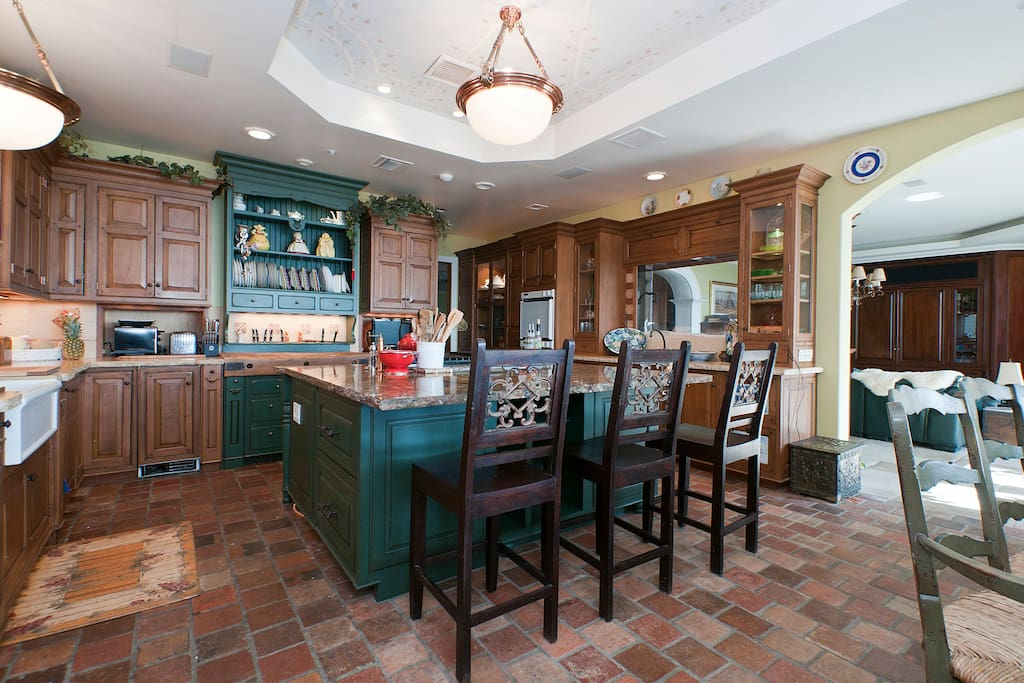 VIntage tile floors in the kitchen where great things happen!