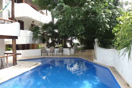 This lovely apartment is located right in the heart of Playa del Carmen, only a few steps from the famous 5th Avenue and a couple of blocks to Mamita´s beach.