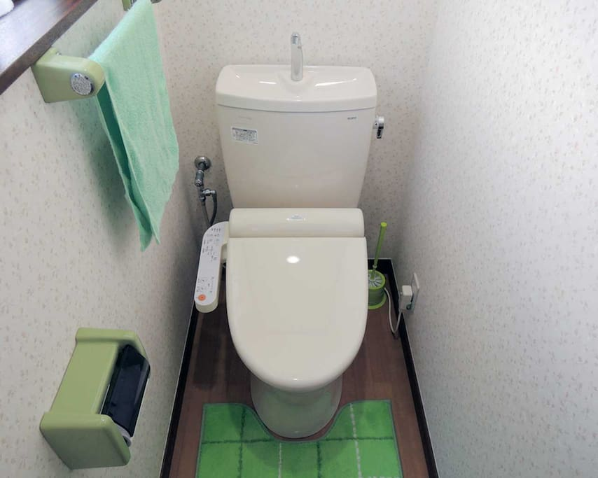 Toilet with TOTO Washlet.