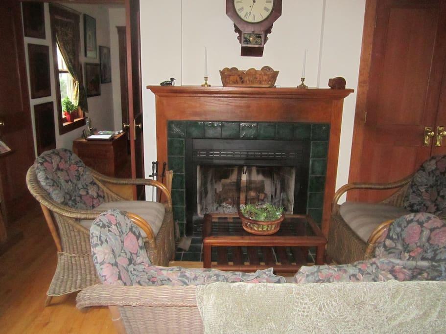 Our fireplace. Enjoy a romantic evening.