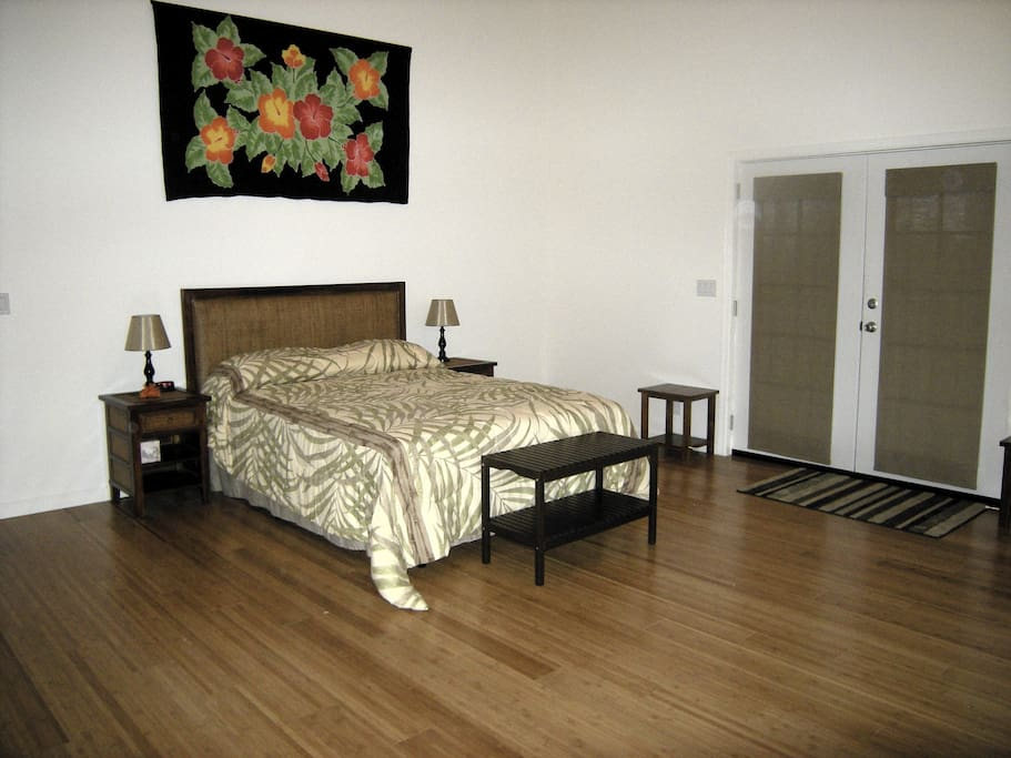 Master Bedroom with french doors which lead to the Lanai. Huge walk-in closet