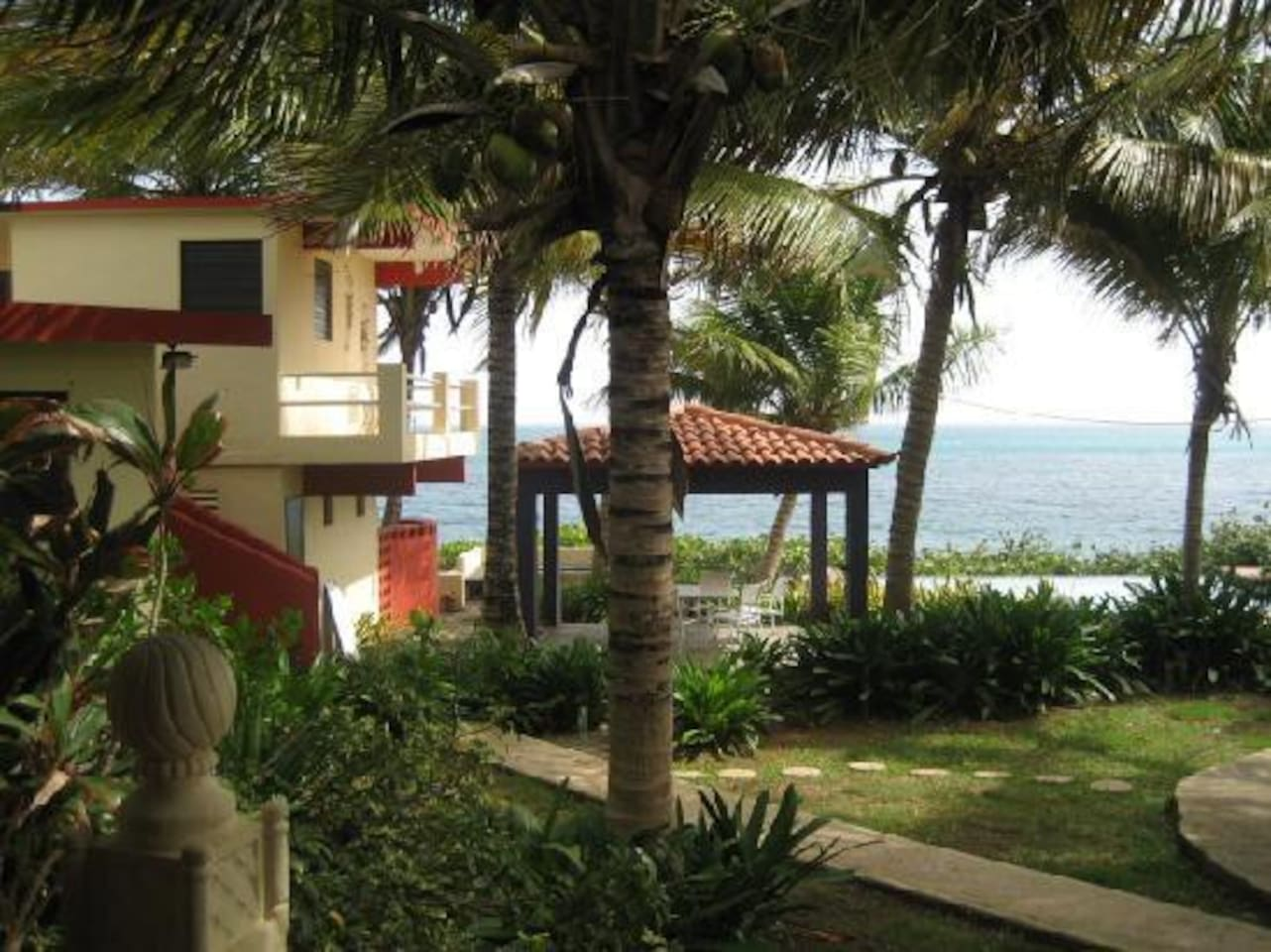 One acre of beach front property with 8 studios