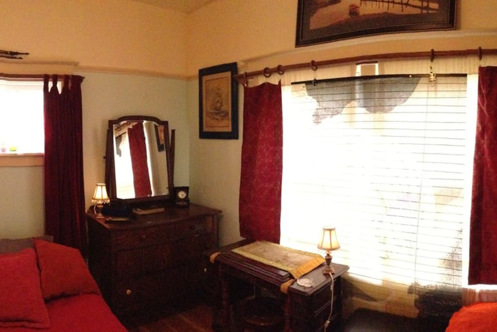the Blue Room, main floor, SE corner means LIGHT!