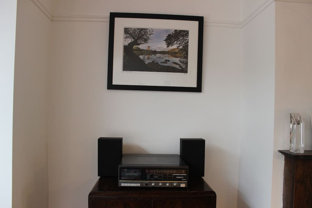 Record player in living room