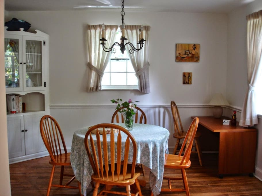 Dining room, hutch, desk, view to front