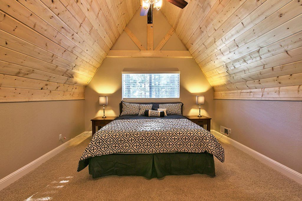 Master  bedroom, bathroom and loft