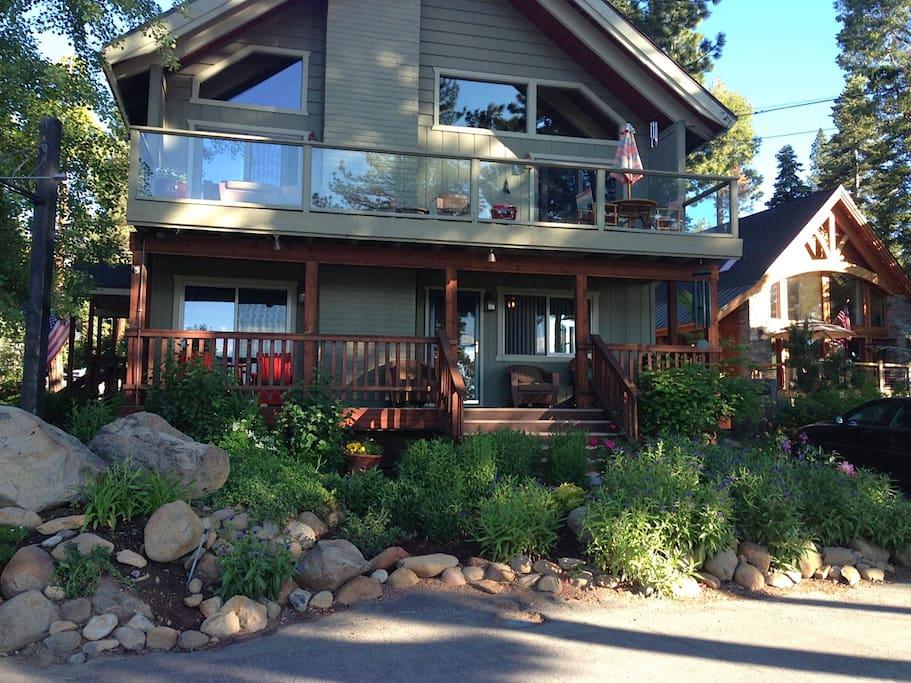 Our home facing Lake Tahoe
