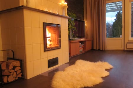 LOVELY HOUSE WITH SAUNA,FIREPLACE. - House