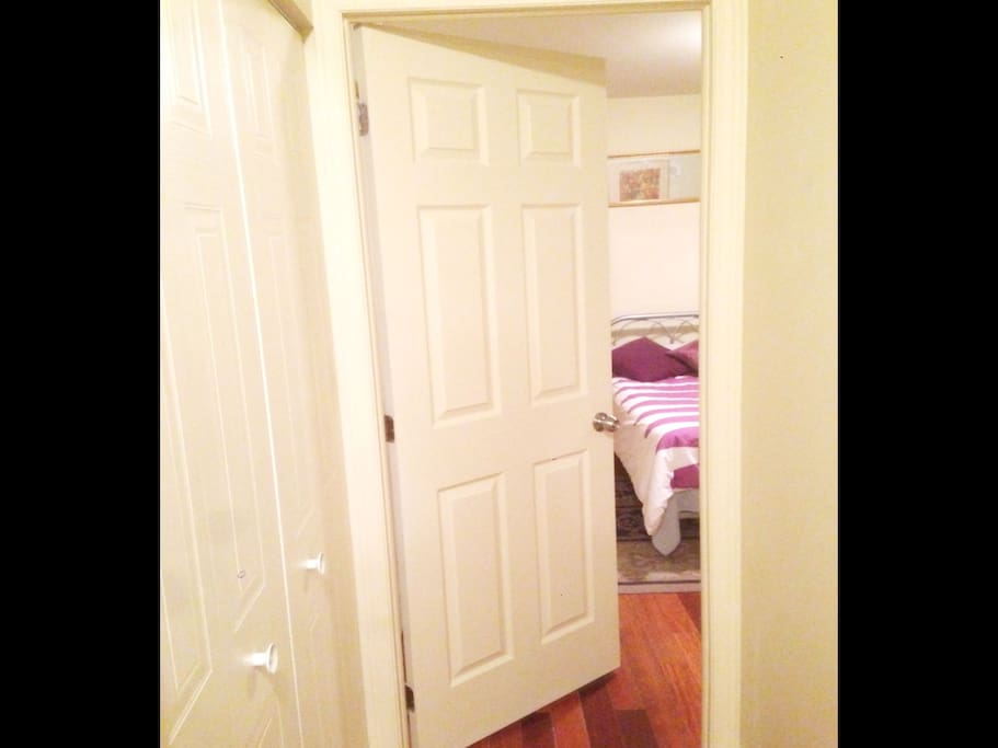 Added door for bedroom for extra privacy