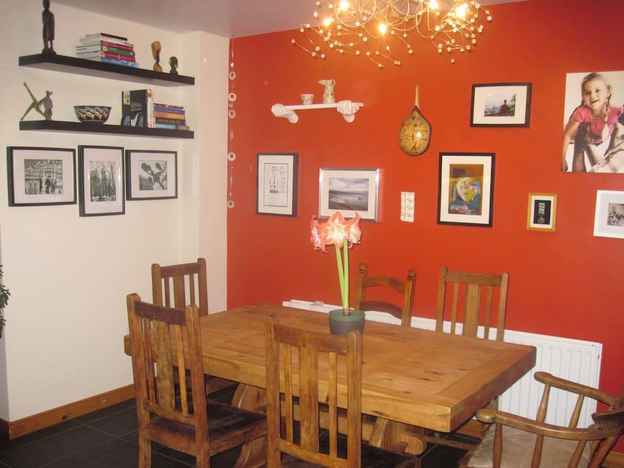 Open plan dining - seats eight.
