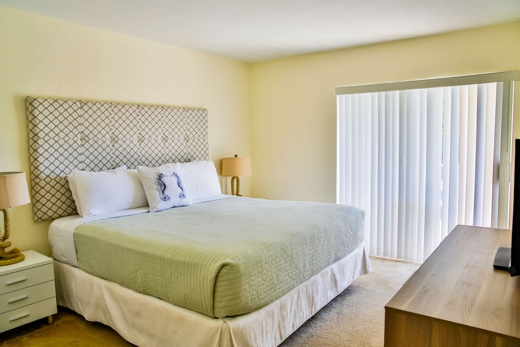 Bedroom with a King Size bed and private bathroom