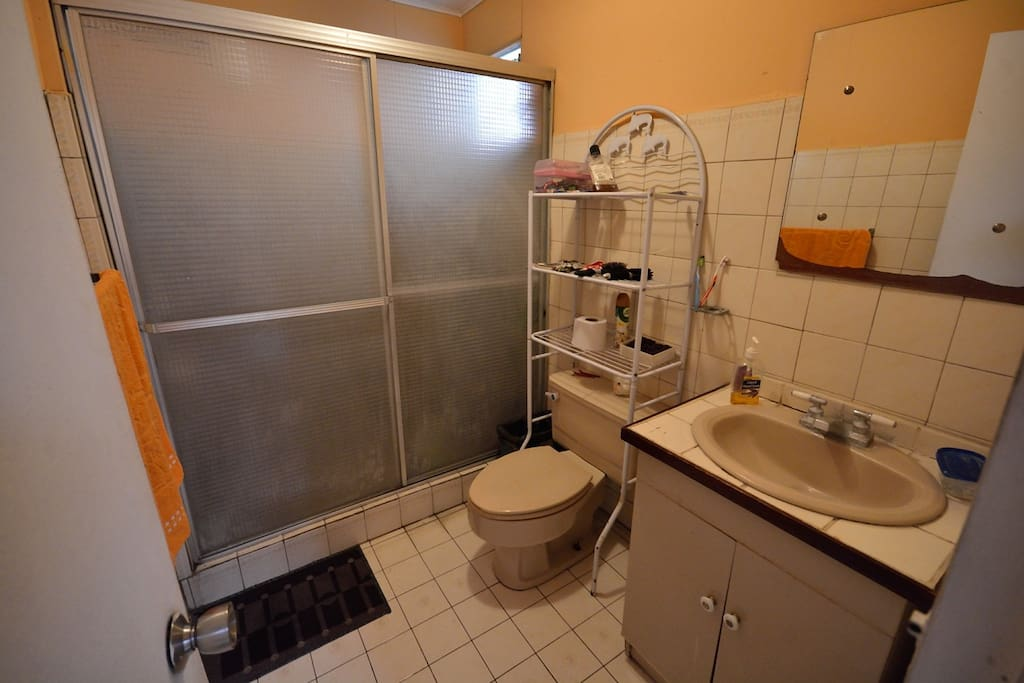 Two bathrooms (shared)