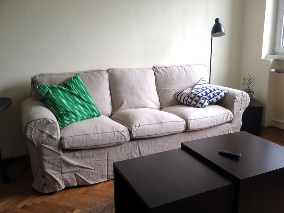 The new sofa as of 6 May 2014!