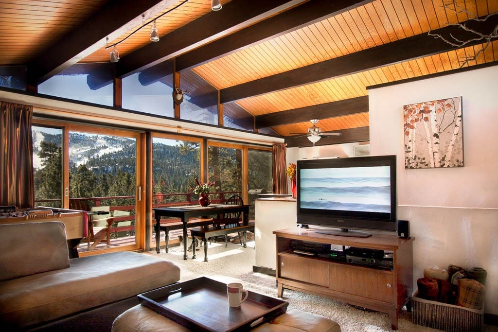 Treehaus chalet panoramic slope views cabins for rent Big bear lakefront cabins for rent