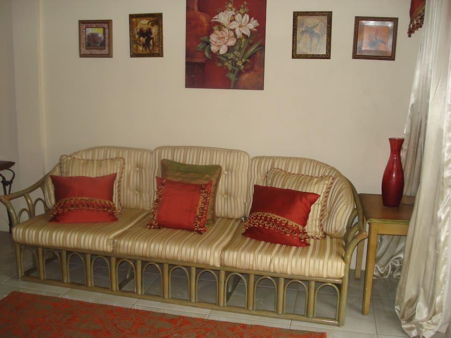 Seating area in studio 2.