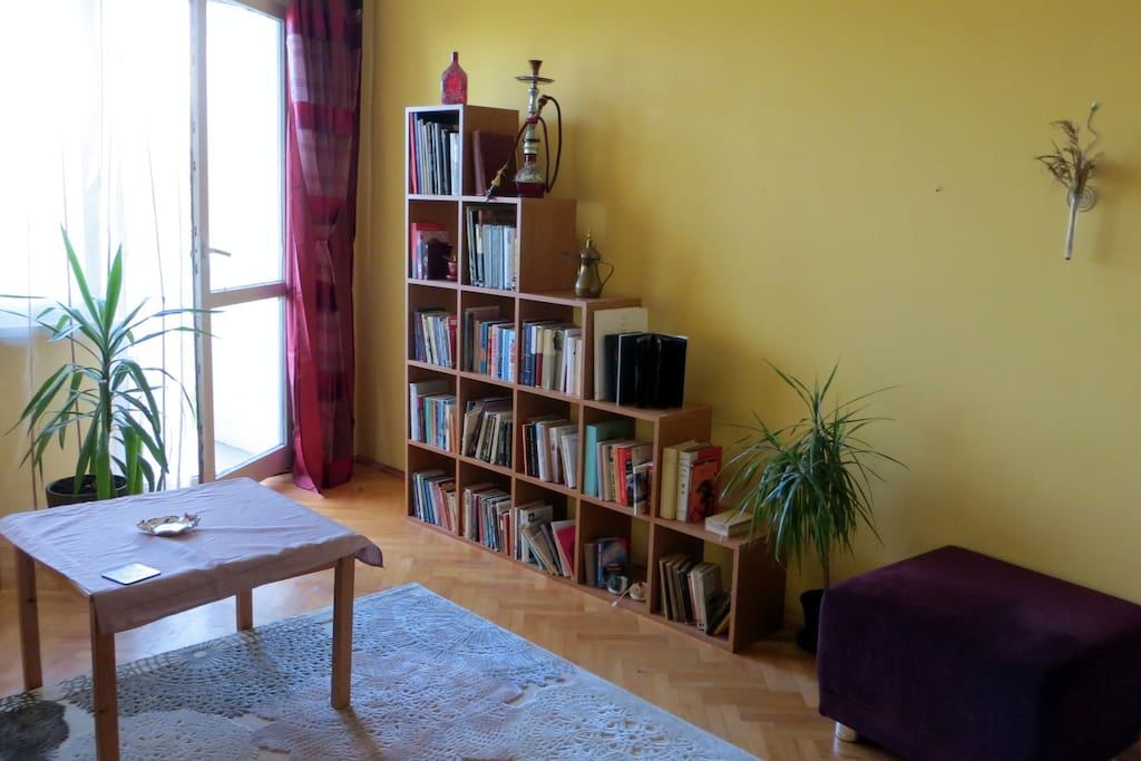 Sunny double room with balcony