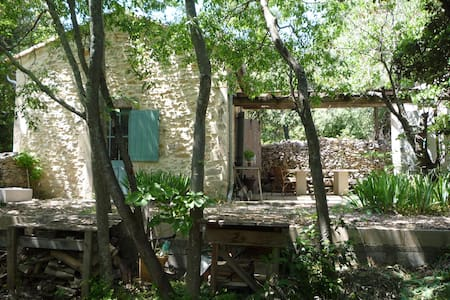 Old stone cottage in Nimes