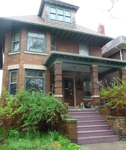 Beautiful Four Square turn of the century house in the Historic Woodbridge Neighborhood.  Mid-town location in the cultural district next to Wayne State University.