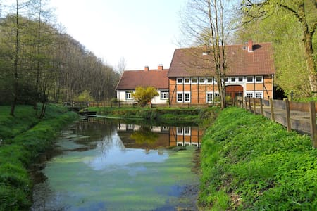 The old mill next to the waterfall - Hessisch Oldendorf - Casa