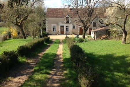 Longère de charme: châteaux et zoo - Villentrois - House
