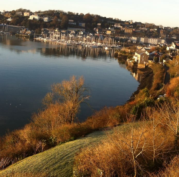 View of Kinsale town from apartment.