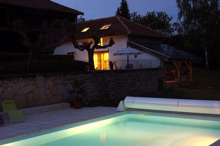 Pyrenean idyll panoramic mountain views pool - House